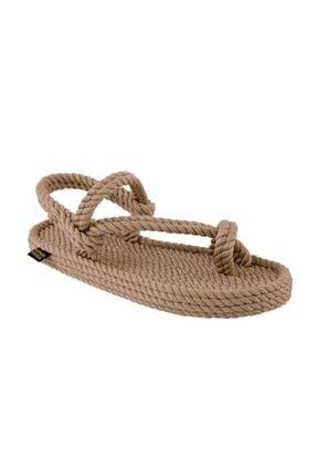NOMADIC REPUBLIC Erkek Bej Halat Sandalet
