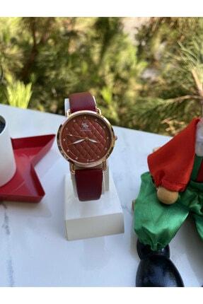 G-Sport Polo Kadın Kırmızı Deri Kordonlu Kol Saati