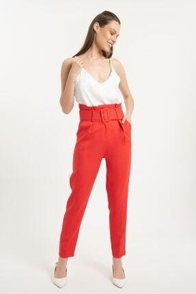 Batik Kadın Kırmızı Duz Casual Pantolon
