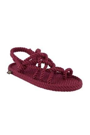 NOMADIC REPUBLIC Kadın Bordo Nomadic Halat & Ip Sandalet