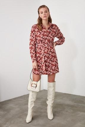 TrendyolMilla Çok Renkli Kemerli Çiçek Desenli Elbise TWOAW21EL1239