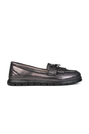 Greyder Kadın Siyah Loafer Ayakkabı 0Y2CA29811
