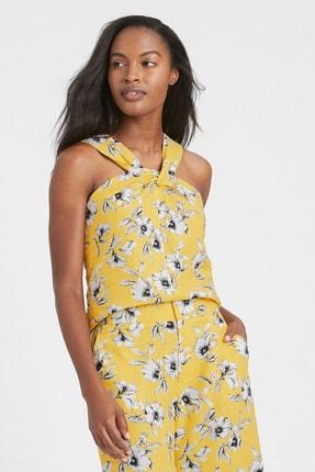 Banana Republic Kadın Sarı Halter Yaka Bluz 588138