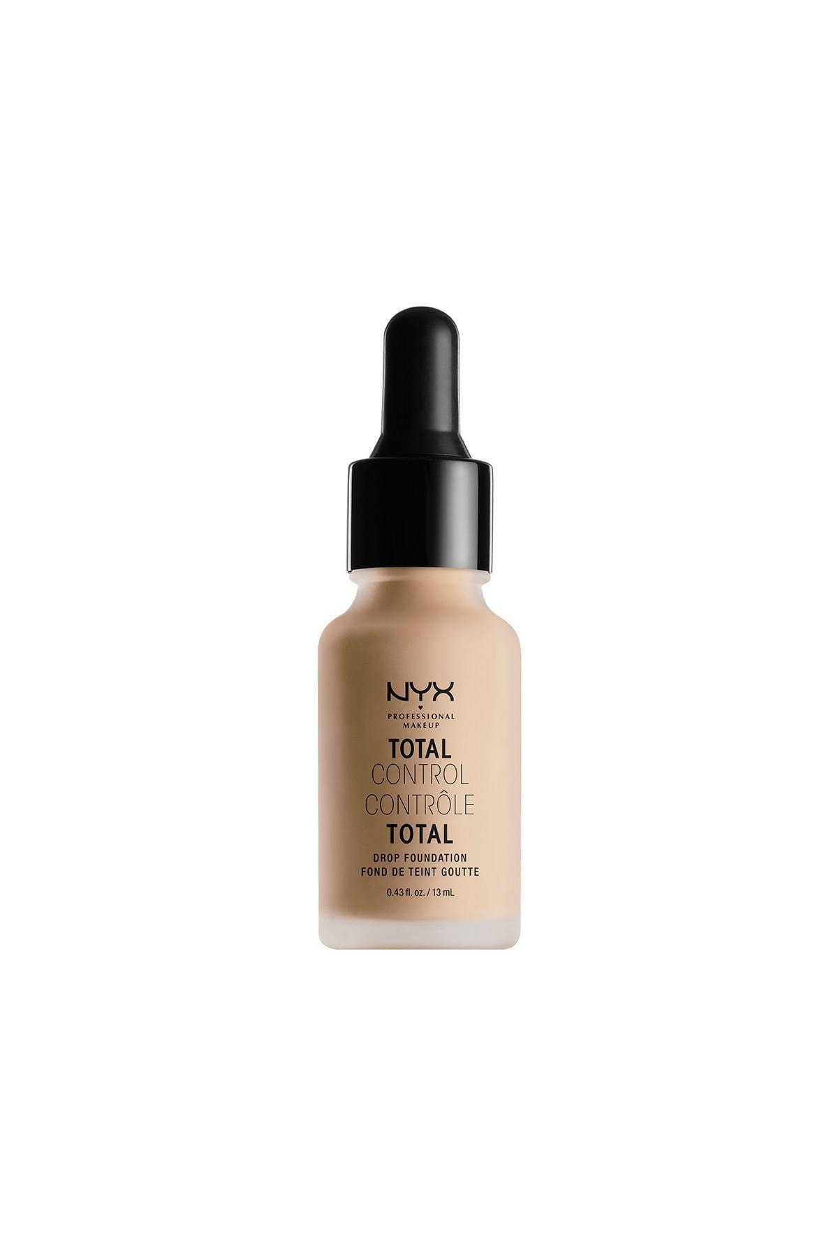 NYX Professional Makeup Mat Fondöten - Total Control Drop Foundation Natural 800897068806