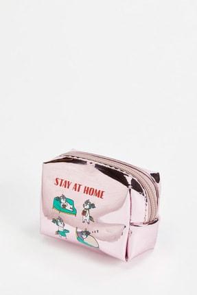DeFacto Kadın Rose Kedi Baskılı Küçük Çanta S4624AZ20WN