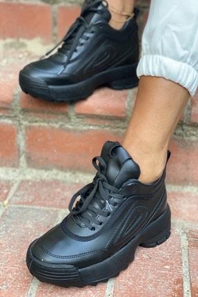 İnan Ayakkabı Siyah Kadın Spor Ayakkabı Y2040