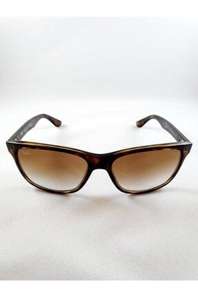 Ray-Ban Rb4181 710/51 Tortoise Kahverengi Kemik Kare Çerçeve Unisex Güneş Gözlüğü
