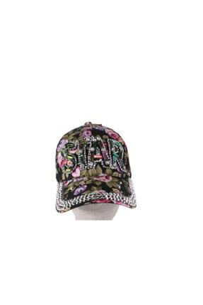 Bay Şapkaci Kadın Çicekli Taşlı Şapka
