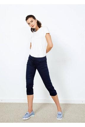 Cazador Kadın Lacivert Cepli Bermuda Pantolon
