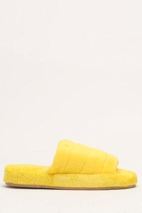 Ayakkabı Modası Kadın Sarı Kadife Ev Terliği