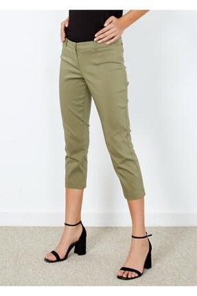 Cazador Kadın Haki Slim Fit Kapri Pantolon