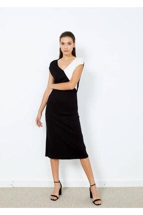 Cazador Kadın Siyah Penye Basic Elbise