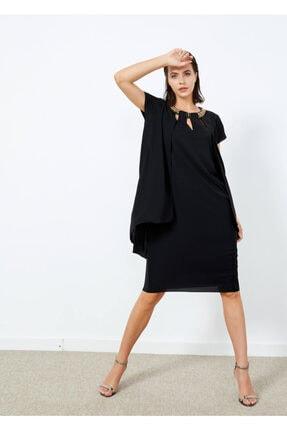 Cazador Kadın Siyah Taş Işlemeli Abiye Elbise Siyah Xs