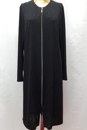 Kadın Siyah Klasik Yaka Uzun  Ceket YLDZF0222820