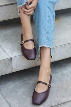 Mio Gusto Julia Bordo Taşlı Topuklu Ayakkabı