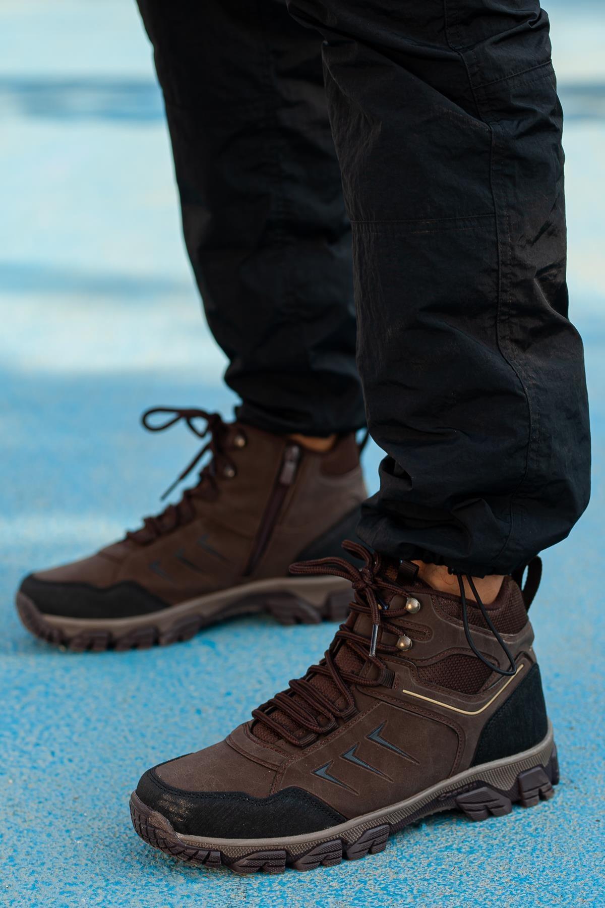 Muggo Kahverengi Unisex Outdoor Ayakkabı DPRMGFRZ2034