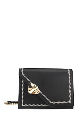 Housebags Kadın Siyah Nakışlı Kilitli Siyah Çapraz Çanta 190