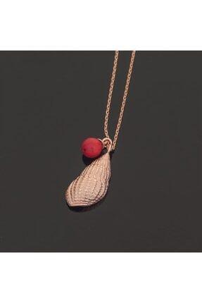 SilverPlus Kadın Deniz Kabuğu Rose Gümüş Kolye
