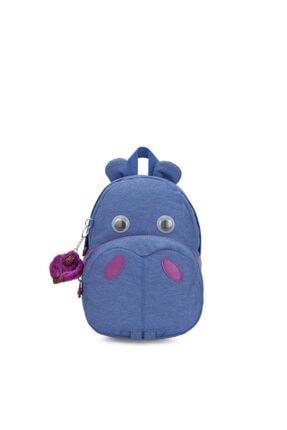 Kipling Unisex Mavi Hippo Küçük Sırt Çantası