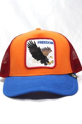 Goorin Bros Unisex Turuncu | Freedom| One Size Kartal Figürlü Şapka