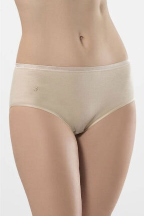 TÜREN Kadın Ten Yüksek Bel Abiye Ribana Bikini Külot 2'li Paket 234