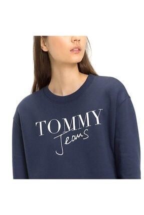 Tommy Hilfiger Kadın Lacivert Sweatshırt Dress Tommy Dw0dw05197