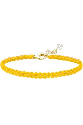 Valael Kadın Sarı Karın Çakrası Gümüş Bileklik