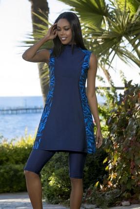 Armes Kadın Lacivert Taytlı Elbise Mayo