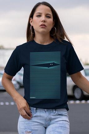 Rock & Roll34 Noluyo Ya Lacivert Kısa Kollu Kadın T-shirt