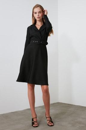 TrendyolMilla Siyah Kemerli Elbise TWOAW21EL0611