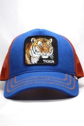 Goorin Bros Unisex Mavi | Tiger | One Size Kaplan Figürlü Şapka