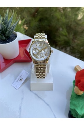 Homies Kadın Çelik Kordonlu Gold Renk Kol Saati