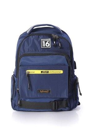 YOUNG Unisex Lacivert Usb Girişli Laptop Sırt Çantası 51315