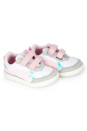 Pappix Kız Bebek Beyaz Pembe Tam Ortopedik İlk Adım Ayakkabı