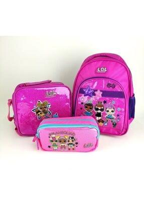 DÖNMEZLER Lol Bebek Okul Çantası Set-çanta-beslenme-kalem Kutu Pembe Set