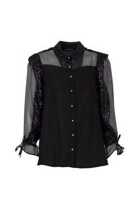 Ayhan 50439 Kadın Gömlek Sıyah