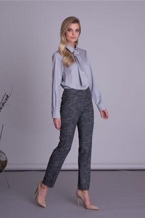 Gizia Kadın Siyah Cepli Boru Paça Kumaş Pantolon