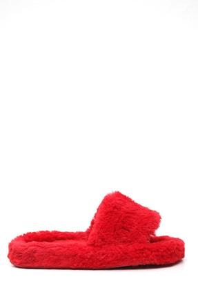 Ayakkabı Modası Kadın Kırmızı Ev Terliği