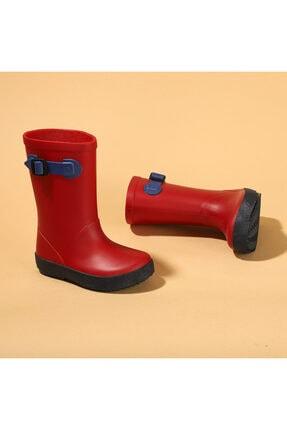 IGOR Unisex Çocuk Kırmızı Su Geçirmez Yağmur Kar Çizmesi  W10113