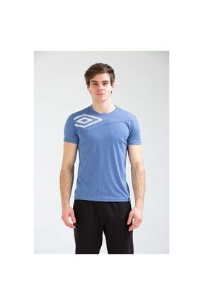 Umbro Desk Erkek Sax Mavi Basic Tişört (tf0018-05)