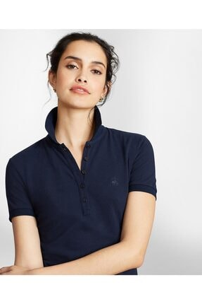 Brooks Brothers Kadın Lacivert Pamuk Pike Polo T-shirt
