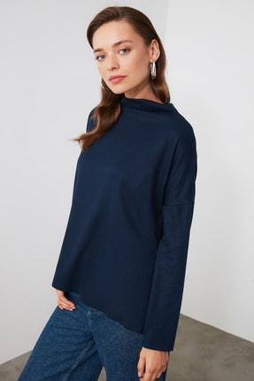 TrendyolMilla Lacivert Balıkçı Yaka Örme Bluz TWOAW20BZ0868