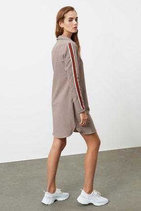 TrendyolMilla Çok Renkli Şerit Detaylı Gömlek Elbise TWOAW21EL1531