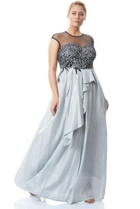 Keikei Kadın Beyaz Büyük Beden Kadi?fe 13 Kolsuz Maxi Elbise
