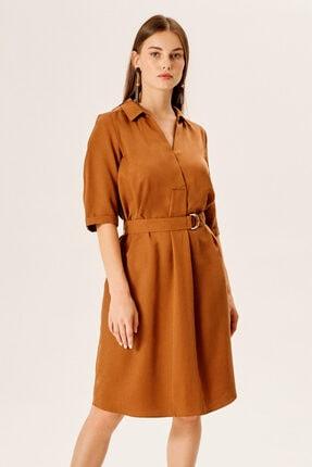 Naramaxx Gömlek Yakalı Kemerli Elbise