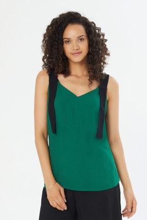 Naramaxx Şerit Askılı V Yaka Bluz