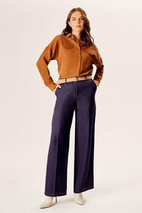 Naramaxx Bol Paça Denim Görünümlü Kemerli Pantolon