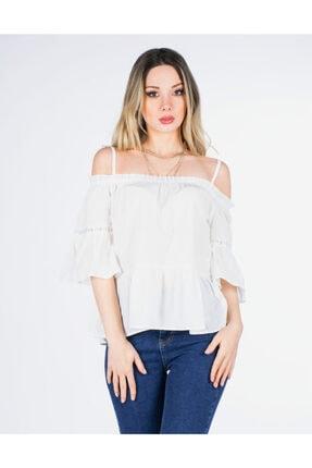Vision Kadın Beyaz Askılı Bluz