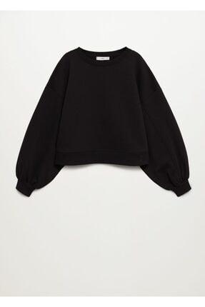Mango Kadın Siyah Sweatshirt --