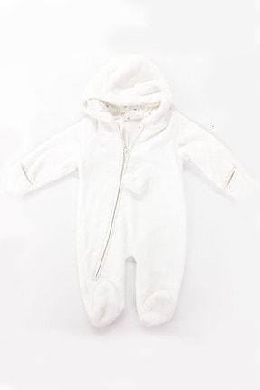 Caramel Polar Eldivenli Kapüşonlu Bebek Dış Tulum